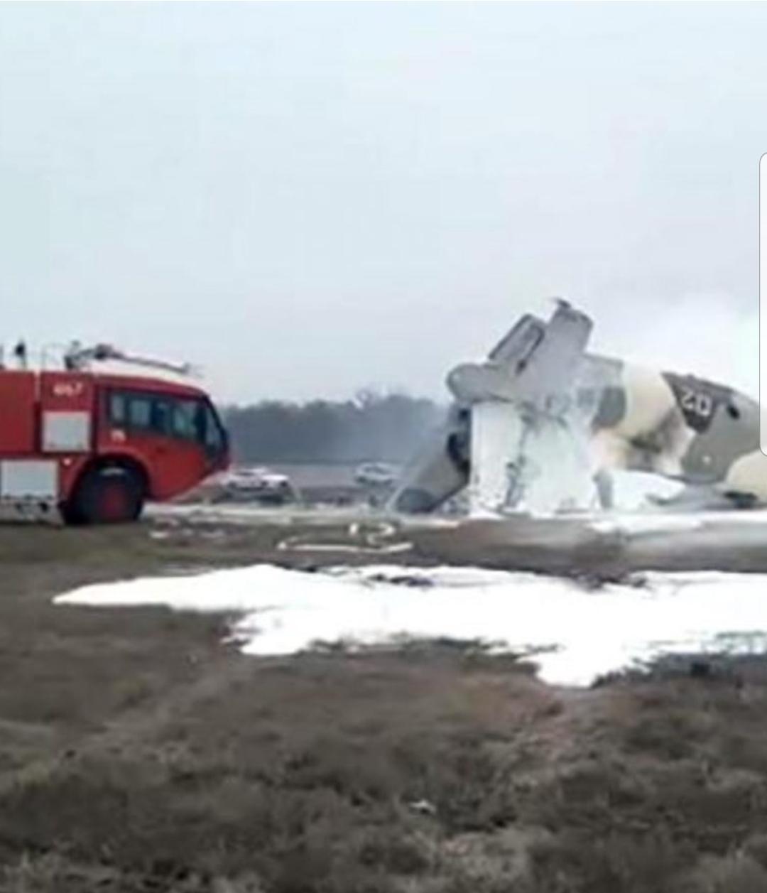 Un avion militar de transport Antonov AN-26 s-a prăbușit în Kazahstan. Există și supraviețuitori, printre cele șase persoane aflate la bord (VIDEO)